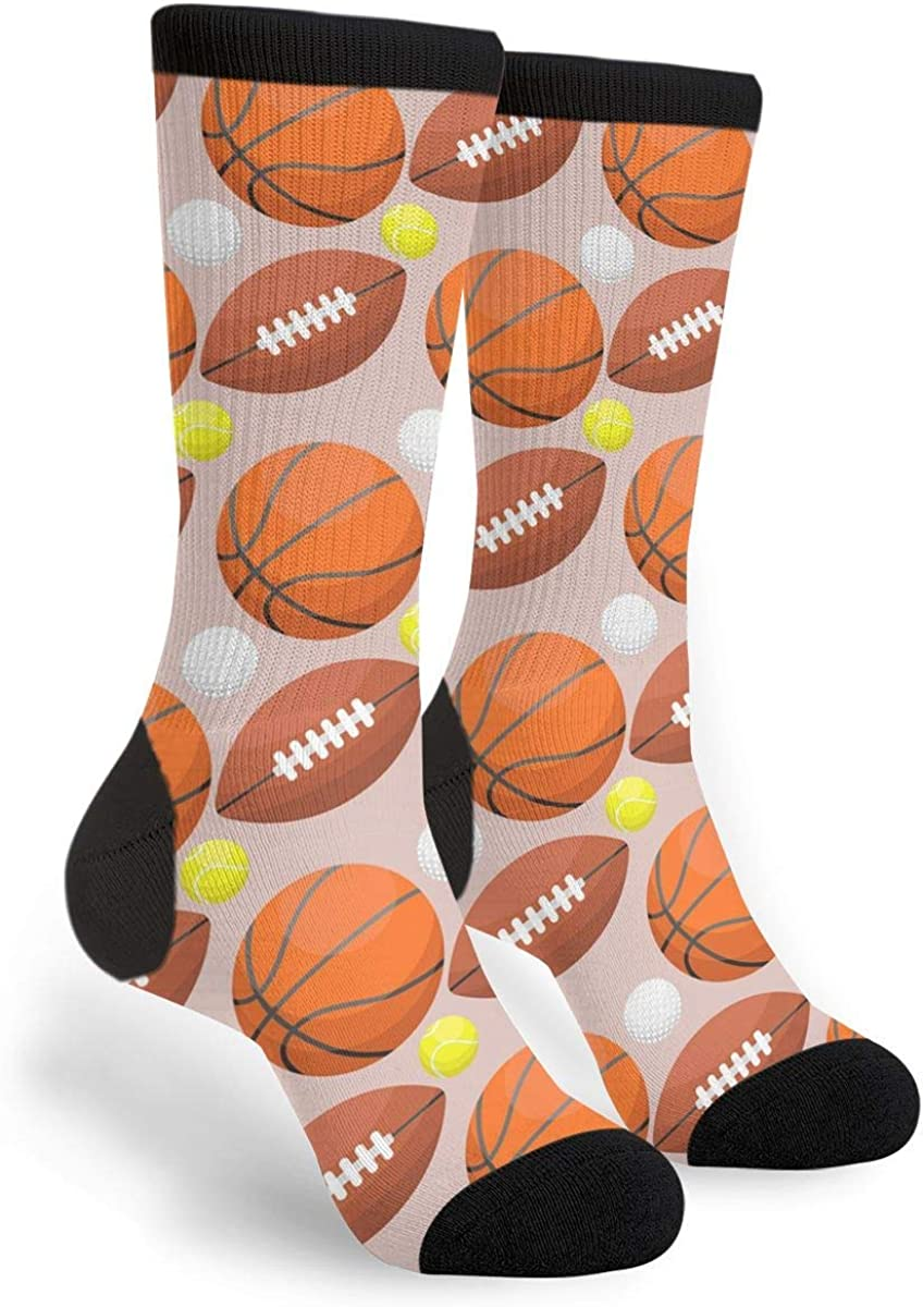Max 41% OFF Basketball Football Baseball Novelty Fun Crazy Spring new work one after another - Socks Crew Dres