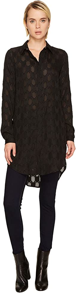 High-Low Tunic Button Up