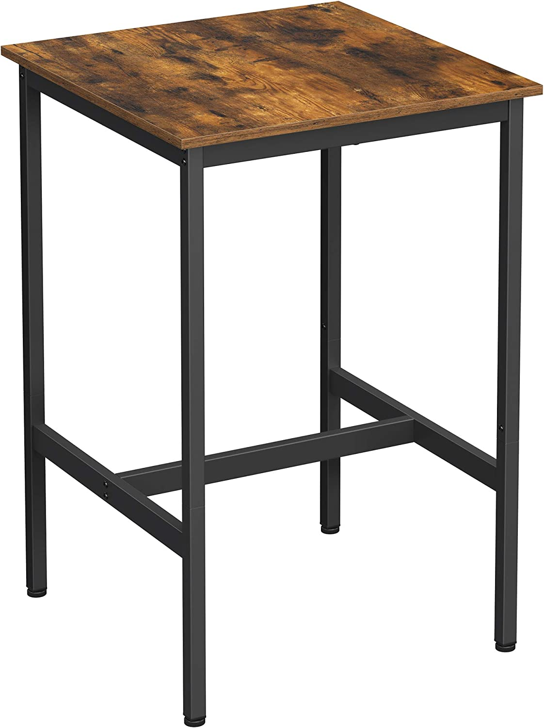 VASAGLE LBT9X Bar Table, High Dining Table, Lectern with Sturdy Steel  Frame, 9 x 9 x 9 cm, Easy Assembly, Kitchen, Industrial Style, Vintage  ...