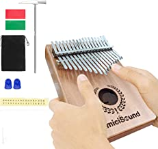 amiciSound Thumb Piano 17 Keys Musical Instrument Kalimba with Engraved Notes and Tuning Hammer