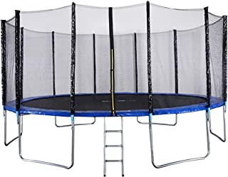 Outdoor Sports Garden Trampoline with Safety Enclosure (16ft)