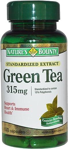 Nature's Bounty, Green Tea, 315 mg, 100 Capsules - 2pc