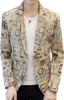 [TAITENG] ジャケット メンズ テーラードジャケット ブレザー 1つボタン スーツ 演出 細身 カジュアル 紳士服 アウター 秋 ステージ衣装
