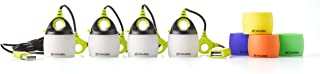 Goal Zero Light-A-Life Mini Chainable LED Lights, 4 Pack, with Color Shades
