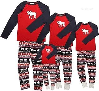 c8b04ffe4469d Ensemble Pyjama Noel Famille Père Noël Mère Garçon Fille du Nouveau-né Bébé  Pyjamas à