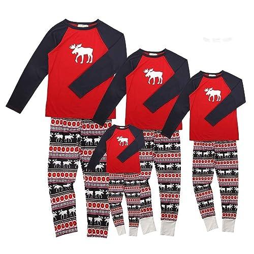 1c0fc06883c83 Ensemble Pyjama Noel Famille Père Noël Mère Garçon Fille du Nouveau-né Bébé  Pyjamas à