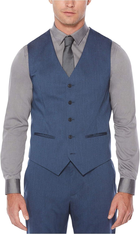 Perry Ellis Men's Heather Twill Stretch Suit Vest