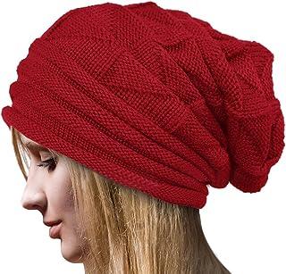 Crochet Invierno Gorro Punto Caliente Cozy Mujeres Grande Sombrero Moda Diseño de Lana Tejer Beanie Warm Caps