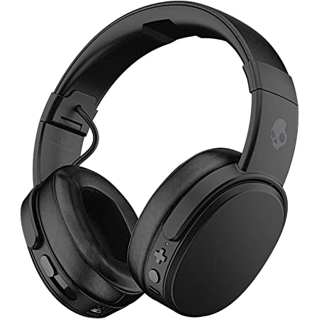 Skullcandy Crusher Bluetooth Wireless Over-Ear Headphones with Microphone - (Renewed) (Black)