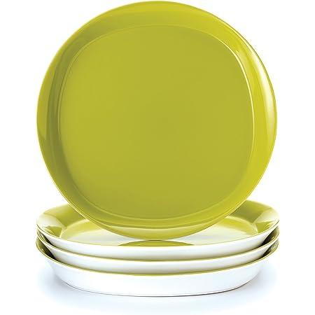 Rachael Ray Cucina Sun Daisy Dinnerware 10 75 Inch Stoneware Dinner Plate Agave Blue Dinner Plates