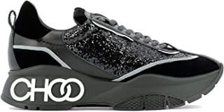 JIMMY CHOO Luxury Fashion Womens RAINEVGBBLACKMIX Black Sneakers | Fall Winter 19