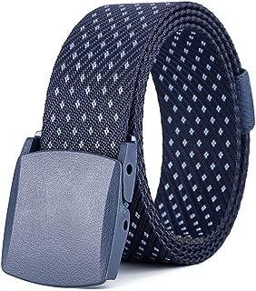 SGJFZD Hypoallergenic Belt Canvas Belt Woven Canvas Belt Fashionable Ladies Outdoor Casual Nylon Belt (Color : Navy, Size : 125cm)