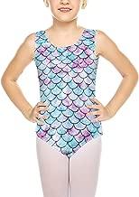 Goodstoworld Sleeveless/Long Sleeve Shiny Cute Printed Ballet Gymnastics Leotard For Girls(Size 3-8 Years)