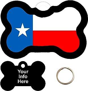 Customized TEXAS FLAG Pet Tag