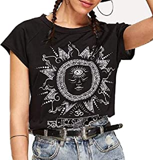 Wintialy Womens Plus Size Letter Printed O-Neck Short Sleeve Blouse T-Shirt Tops