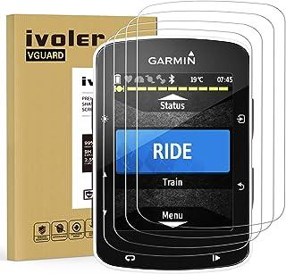 ivoler 4-pack skärmskydd för Garmin Edge 520/Garmin Edge 820, film med härdat glas för Garmin Edge 520/Garmin Edge 820 [9H...