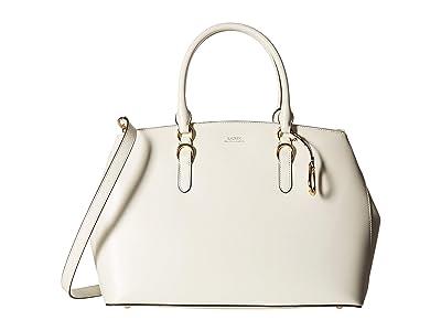 LAUREN Ralph Lauren Bennington Double Zip Satchel (Vanilla) Satchel Handbags