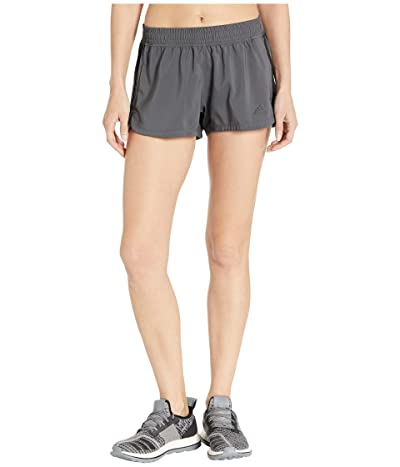 adidas 3-Stripe Woven Shorts (Grey Six/Black) Women