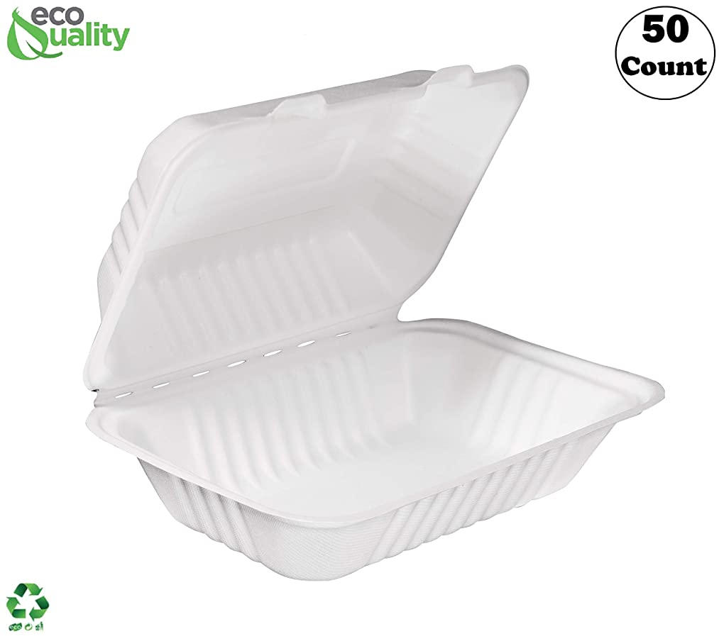 [50 PACK] EcoQuality White 6
