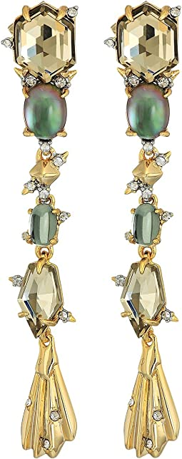Alexis Bittar - Crystal Studded Dangling Stone Post Earrings