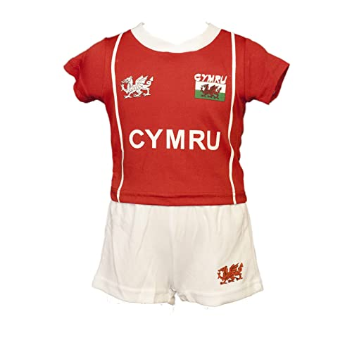 FASHION REVIEW WELSH CYMRU BABY KIDS  BRYN  COOLDRY WALES RUGBY FOOTBALL  KIT RED   92f06fc9a