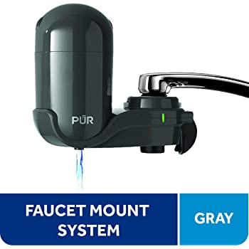 PUR Faucet Mount Water Filtration System, Small, Gray