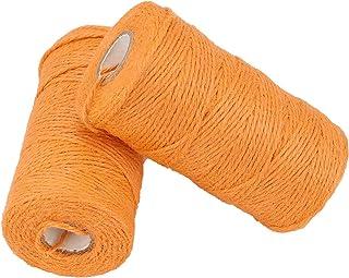 Jute Corde Ficelle 656 Pieds 3 Plis 2mm Cordon de Couleur pour Bricolage Arts Artisanat Jardinage Emballage Cadeaux Décora...