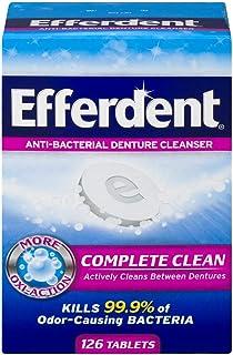 Efferdent Denture Cleanser Tablets, Complete Clean, 126 Tablets
