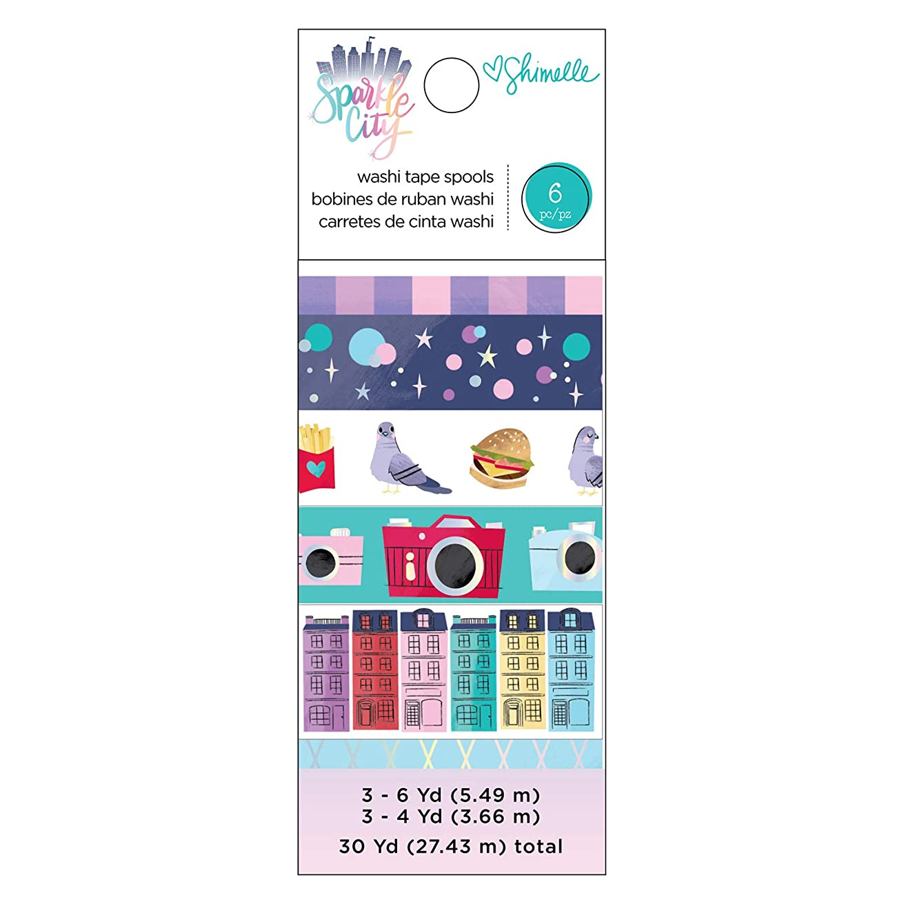 Shimelle 351337 Pack Washi Tape, Multi