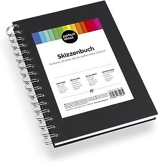 perfect ideaz DIN-A5 Skizzen-Buch 96 Seiten (48 Blatt), professioneller Zeichen-Block,..