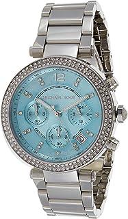 Michael Kors Women's Blue Dial Stainless Steel Band Watch - MK5696