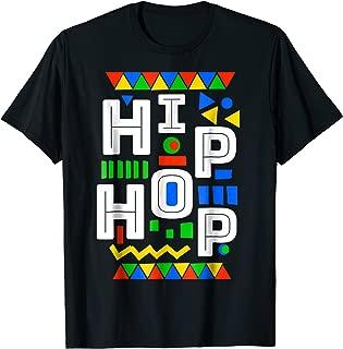 80s inspired Hip Hop dashiki kente pattern t-shirt