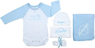 Oy Vey Baby 5 Piece Baby Essentials Set | 3-6 Months Boy Girl Infant Gift