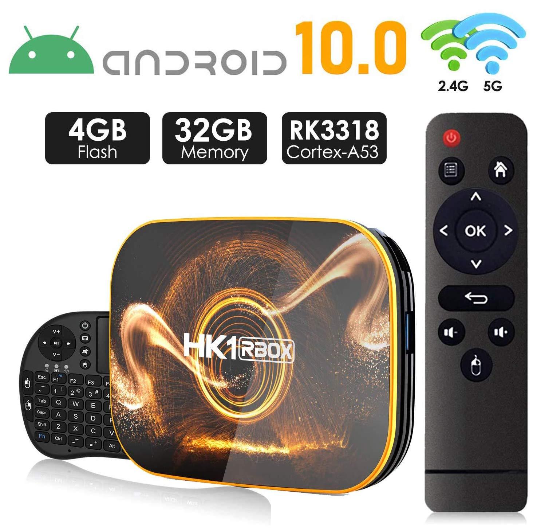 Android 10.0 TV Box 【4GB RAM 32GB ROM】 HK1 Ultra HD 4K Smart TV Box RK3318