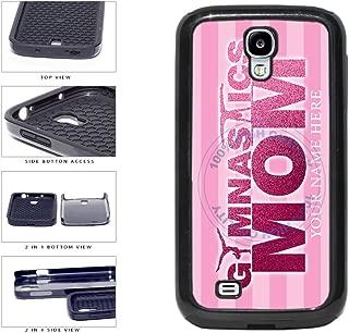 BleuReign(TM) Personalized Custom Name Gymnastics Mom 2-Piece Dual Layer Phone Case Back Cover For Samsung Galaxy S4