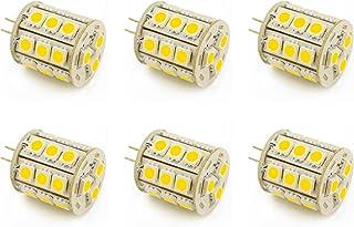 PACK OF 6 G4 Bi Pin Lamp Capsule Shape 5W LED Light Bulbs 2Pin AC DC 12V 24V Low Volt Lighting System Replacement for JC H...