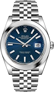 Men's Rolex Datejust 41 Blue Dial Steel Watch on Jubilee Bracelet 126300