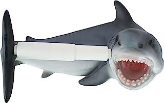 Design Toscano JQ10199 Shark Attack Bathroom Toilet Paper Holder, Full Color