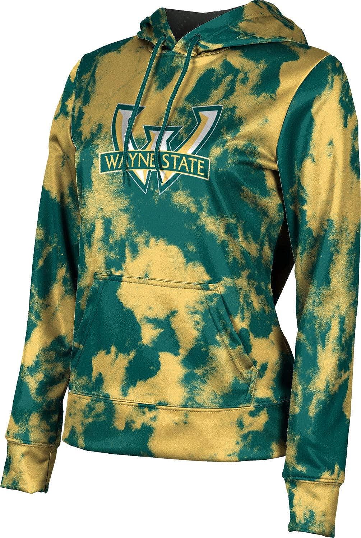 ProSphere Wayne State University Girls' Pullover Hoodie, School Spirit Sweatshirt (Grunge)