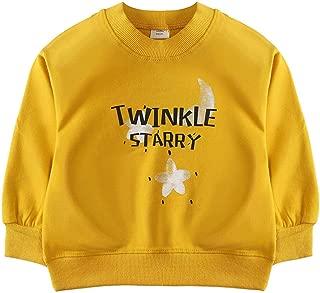 Toddlers Boys Girls Sweatshirt Star Print Long Sleeve Pullover Cute T Shirt