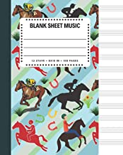 Blank Sheet Music: Equestrian Sports Cover 8x10