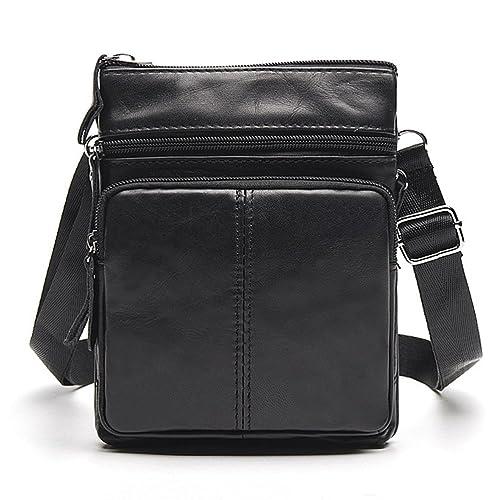 Fmeida Leather Crossbody Bag Small Satchel Messenger Bag Vintage Shoulder  Bag b8d30708a021f