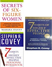 Secrets of six figure women and 7 habits of highly effective people personal workbook 3 books collection set