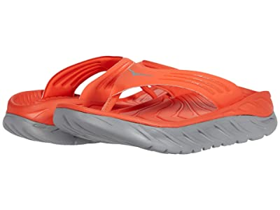 Hoka One One Ora Recovery Flip (Mandarin Red/Wild Dove) Men