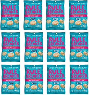 Rule Breaker Snacks Bites Birthday Cake Blondie - Vegan, Gluten Free, Nut Free, Allergy Friendly, Kosher and School Safe (12 Pouches)
