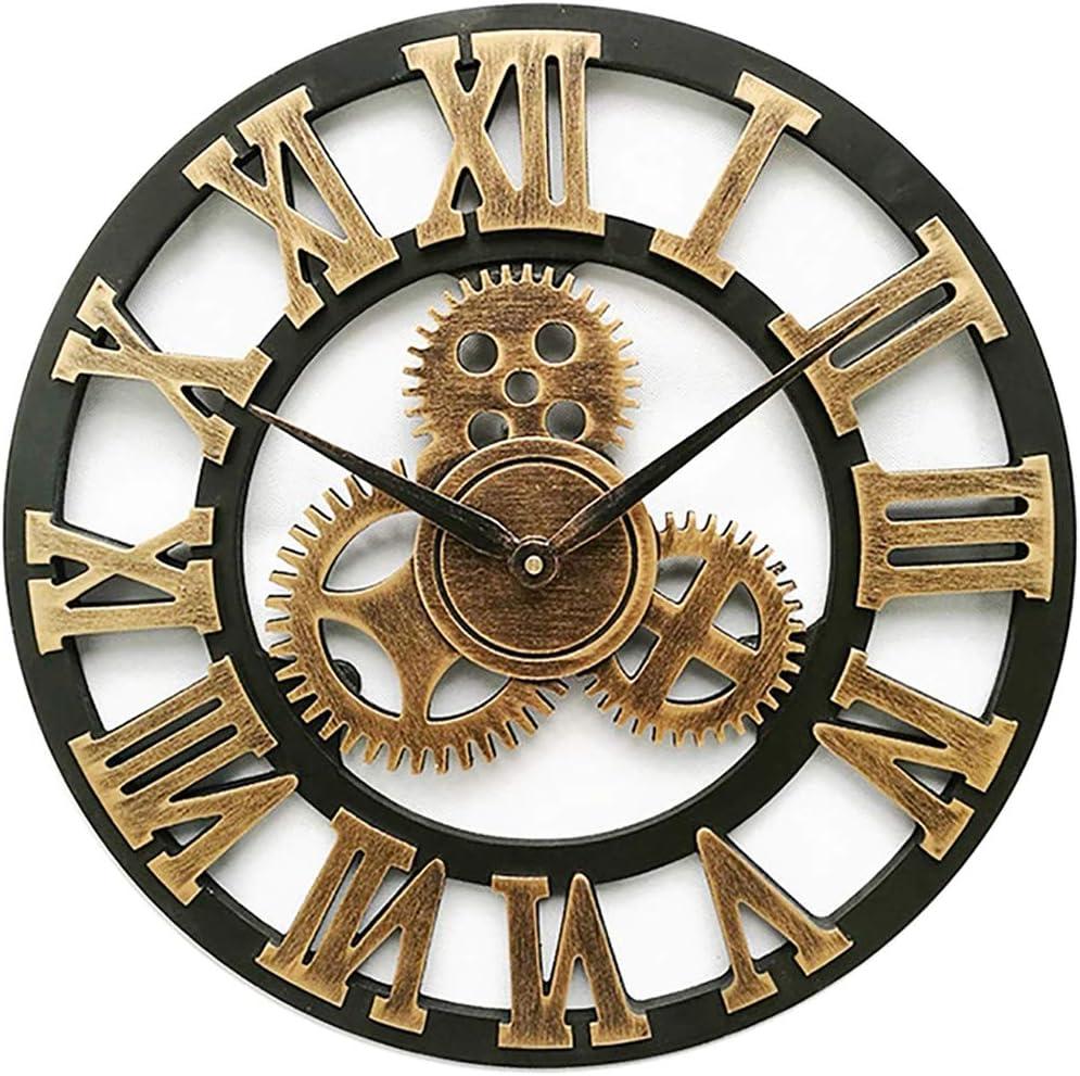 OPSLEA Horloge Vintage europ/éenne Horloge Murale en Bois Vintage europ/éen r/étro Vintage Fait Main d/écoratif 3D