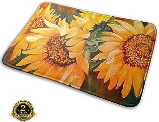 Bumeryer Custom Sunset Sunflower Doormat Rug Indoor Bathroom Kitchen Absorbent Non-Slip Door Mats Home Decor 23.6