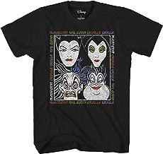 Disney Villains Album Little Mermaid Sleeping Beauty Snow White 101 Dalmations Graphic Tee Mens Adult T-Shirt