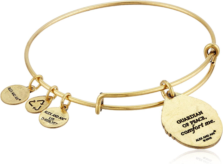 Alex and Ani Guardian of Peace Rafaelian Gold Expandable Wire Bangle Bracelet