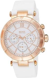 Hugo Boss Women's Watch Chronograph Quartz Nacre Rubber Strap